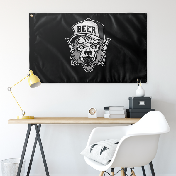 Werewolf Beer Hat Flag Wall Flags - The Beer Lodge