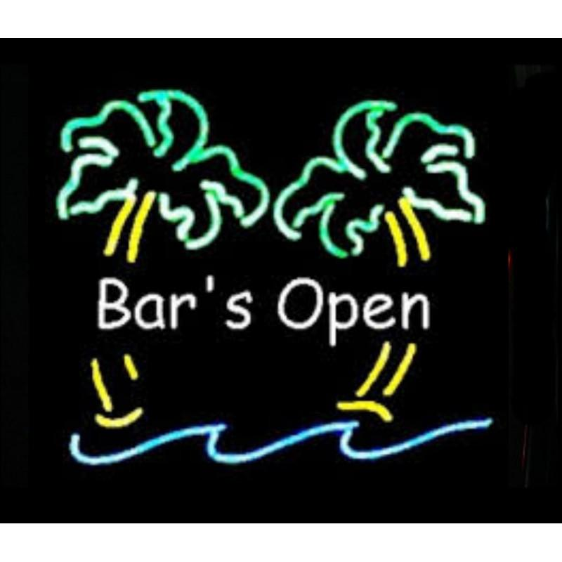 Bar's Open Neon Home Bar Sign Neon Sign - The Beer Lodge