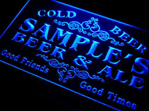 Name Personalized Beer & Ale Vintage Bar Cold Beer Neon Light Sign (Two Sizes) - The Beer Life