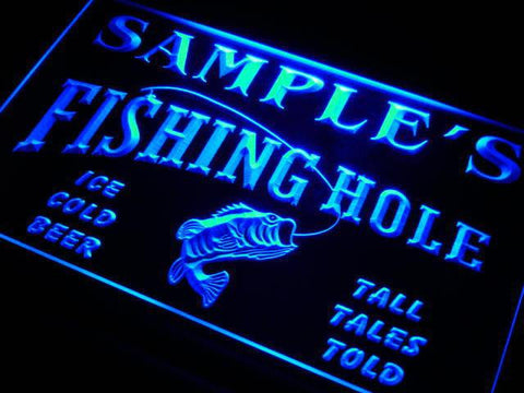 Name Personalized Fly Fishing Hole Den Bar Beer Gift Neon Sign (Three Sizes) Beer Signs - The Beer Lodge