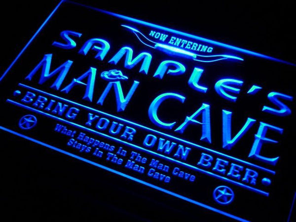 Personalized Custom Man Cave Beer Bar Neon Light Sign (Three Sizes) Beer Signs - The Beer Lodge