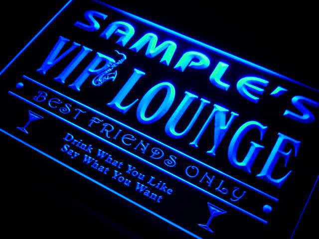 Personalized VIP Lounge Best Friends Only Bar Beer Neon Sign (Two Sizes) Beer Signs - The Beer Lodge