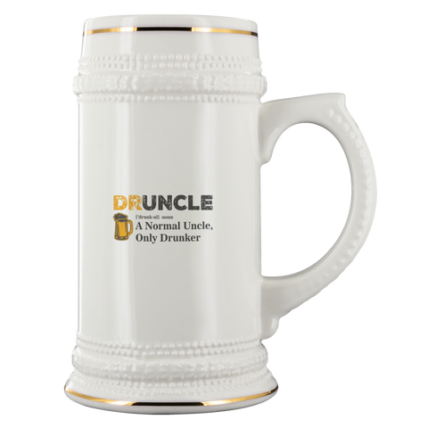 Druncle Beer Stein Drinkware - The Beer Lodge