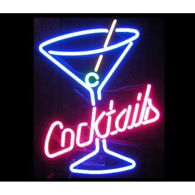 Cocktail Martini Neon Home Bar Sign Neon Sign - The Beer Lodge