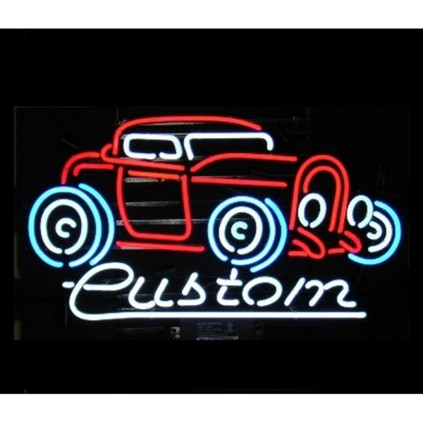 Custom Hot Rod Neon Home Bar Sign Neon Sign - The Beer Lodge
