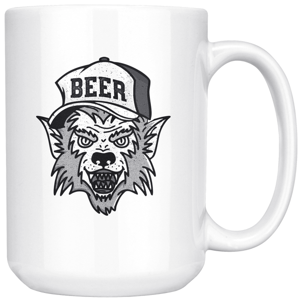 Werewolf Beer Hat 15oz Mug Drinkware - The Beer Lodge