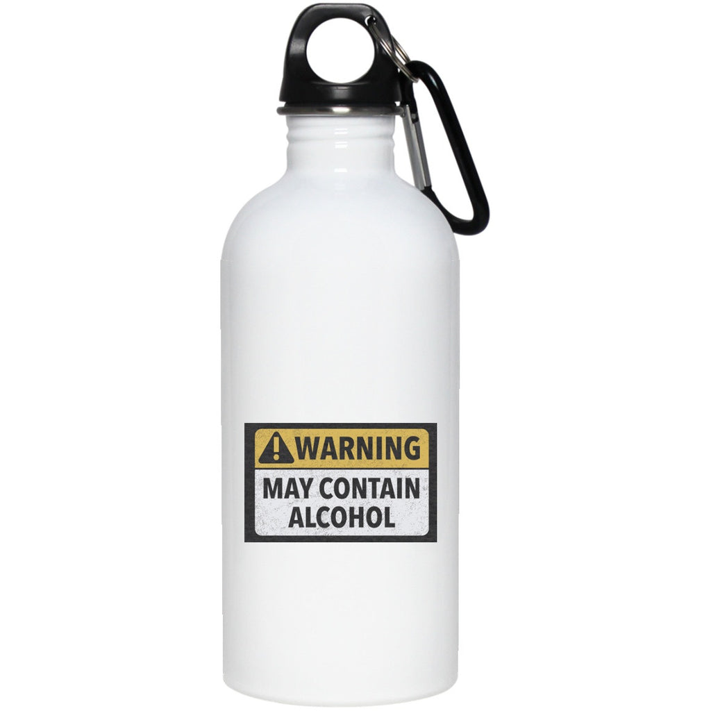 Glasses - May Contain Alcohol 20 Oz Stainless Steel Water Bottle