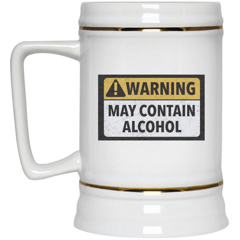 May Contain Alcohol Beer Stein - 22 oz Glasses - The Beer Lodge