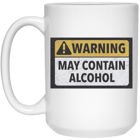 May Contain Alcohol Mug - 15oz Glasses - The Beer Lodge