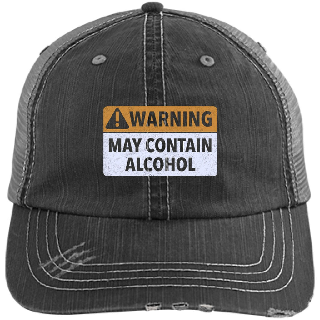 Warning! May Contain Alcohol Trucker Cap Hats - The Beer Lodge