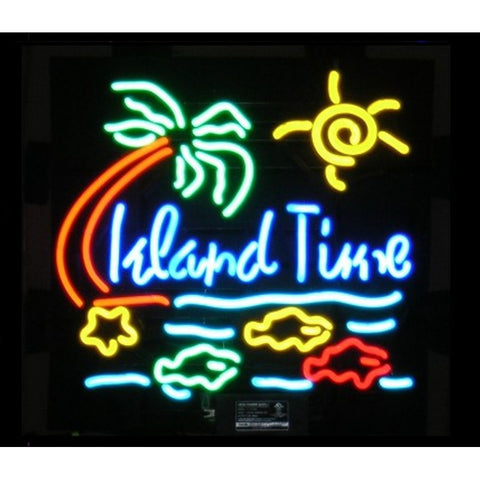 Island Time Neon Home Bar Sign Neon Sign - The Beer Lodge