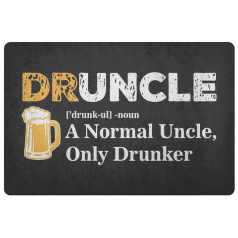 Druncle Doormat Doormat - The Beer Lodge