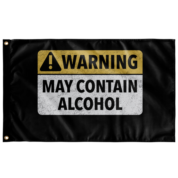Warning May Contain Alchol Flag - The Beer Life