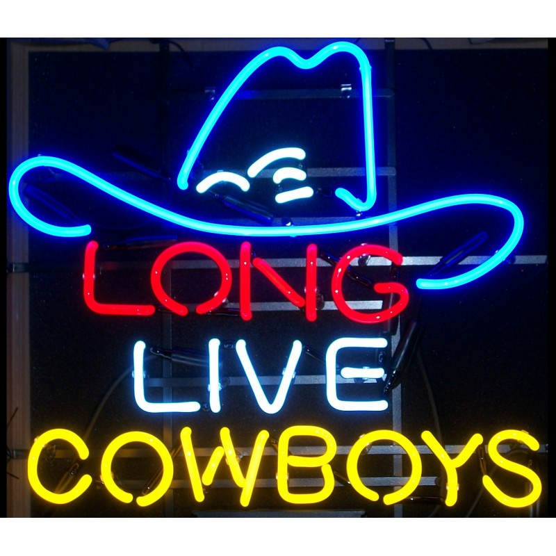 Long Live Cowboys Neon Home Bar Sign Neon Sign - The Beer Lodge