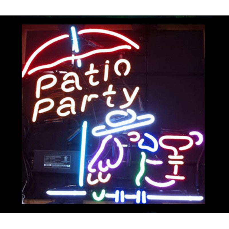 Patio Party Neon Home Bar Sign Neon Sign - The Beer Lodge
