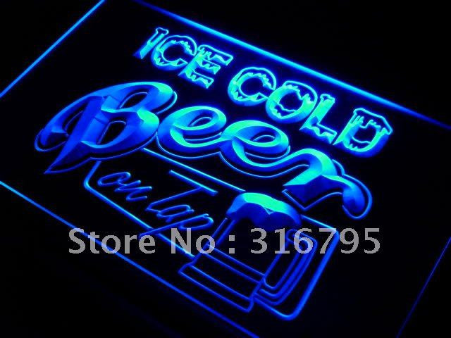 Ice Cold Beer on Tap Bar LED Neon Light Sign On/Off Switch 7 Colors - The Beer Life