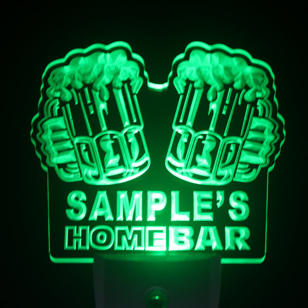 Personalized Home Bar Night Light with Day / Night Sensor - The Beer Life