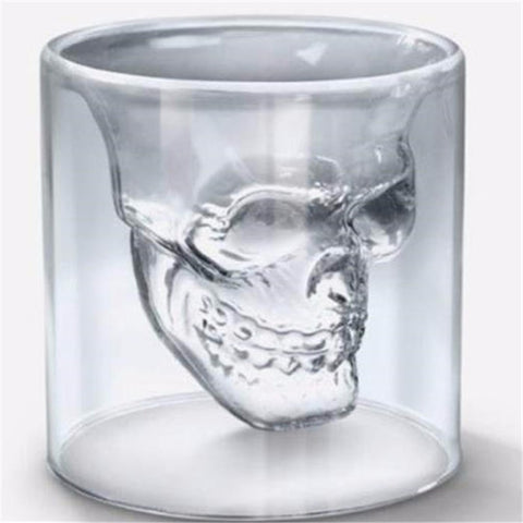 "Transparent Magic Skull Shot and Drinking Glass - 0.8 oz, 2.68"" x 2.76"""