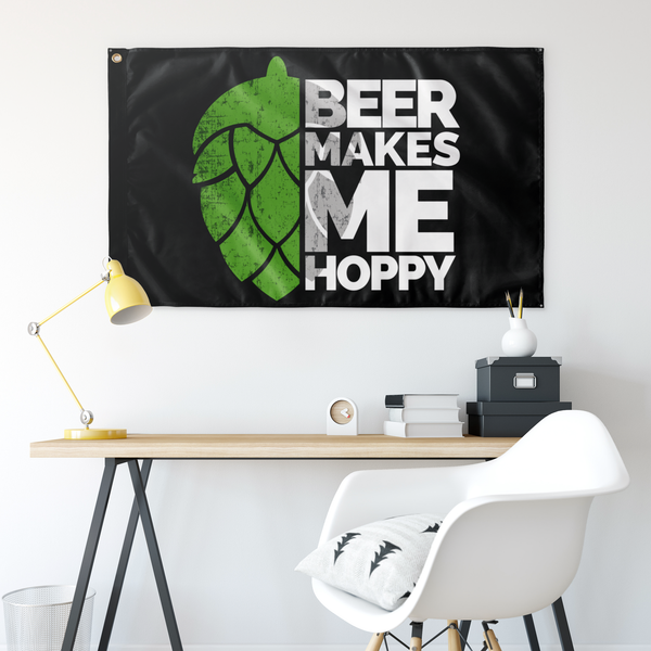 Beer Makes Me Hoppy Flag - The Beer Life