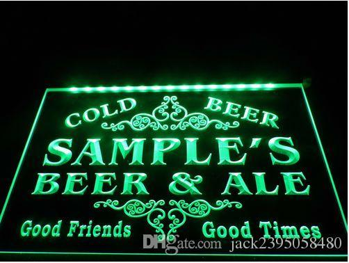 Name Personalized Beer & Ale Vintage Bar Cold Beer Neon Light Sign (Three Sizes) LED Signs - The Beer Lodge