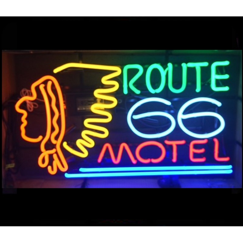 RT 66 Motel Neon Home Bar Sign Neon Sign - The Beer Lodge
