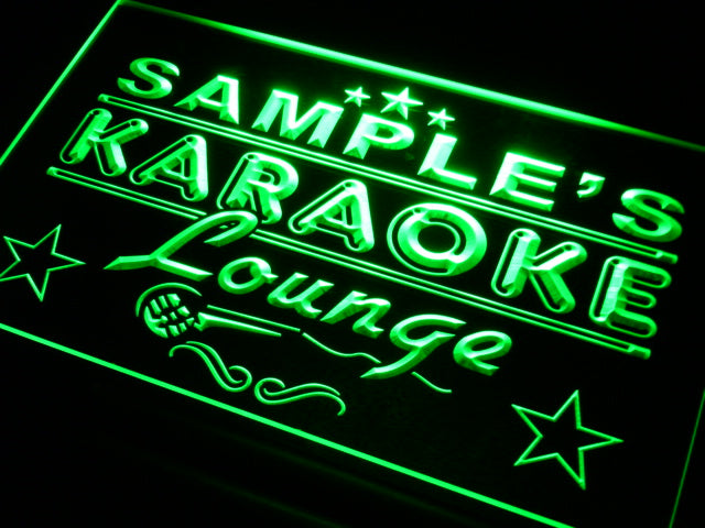 Personalized Karaoke Lounge LED Sign (Three Sizes) LED Signs - The Beer Lodge