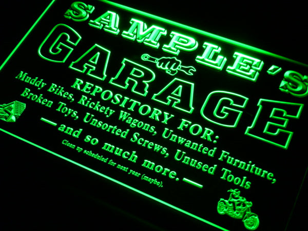 Personalized Garage LED Sign (Three Sizes) LED Signs - The Beer Lodge