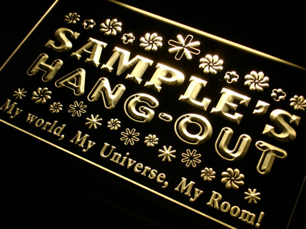 Personalized Hang-Out LED Sign (Three Sizes) LED Signs - The Beer Lodge