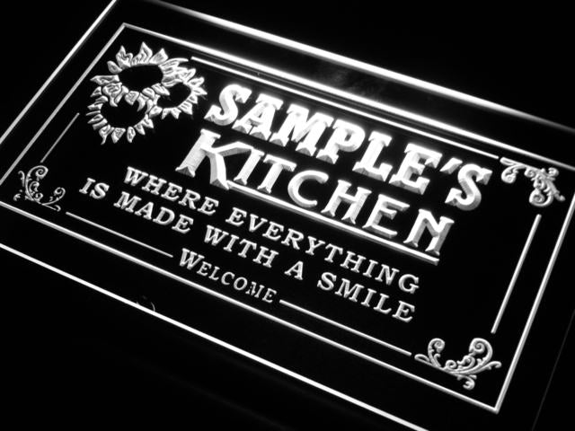 Personalized Kitchen LED Sign (Three Sizes) LED Signs - The Beer Lodge