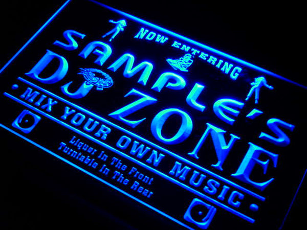 Personalized DJ Zone LED Sign (Three Sizes) LED Signs - The Beer Lodge