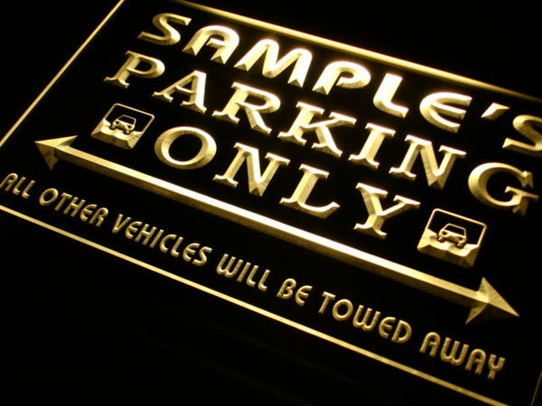 Personalized Parking Only LED Sign (Three Sizes) LED Signs - The Beer Lodge