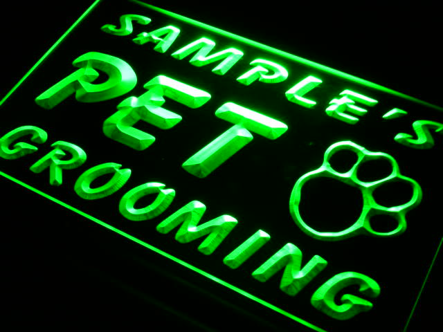 Personalized Pet Grooming LED Sign (Three Sizes) LED Signs - The Beer Lodge