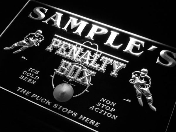 Personalized Hockey Penalty Box Bar Beer LED Sign (Three Sizes) LED Signs - The Beer Lodge