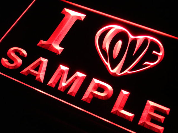 Personalized I love LED Sign (Three Sizes) LED Signs - The Beer Lodge
