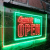 Come In We're Open Welcome Plaque Two Color LED Sign (Three Sizes)
