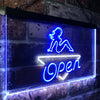 Girl Open Bar Man Cave Two Color LED Sign (Three Sizes)