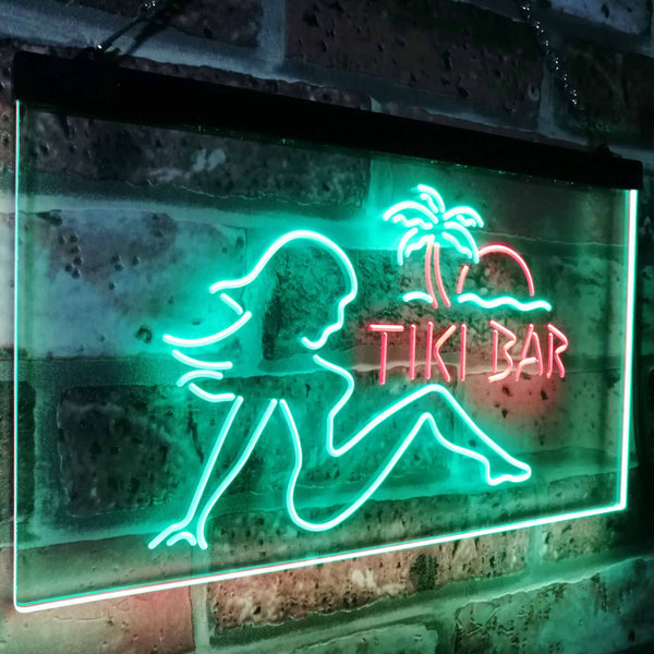 Tiki Bar Girl Two Colors LED Home Bar Sign (Three Sizes)