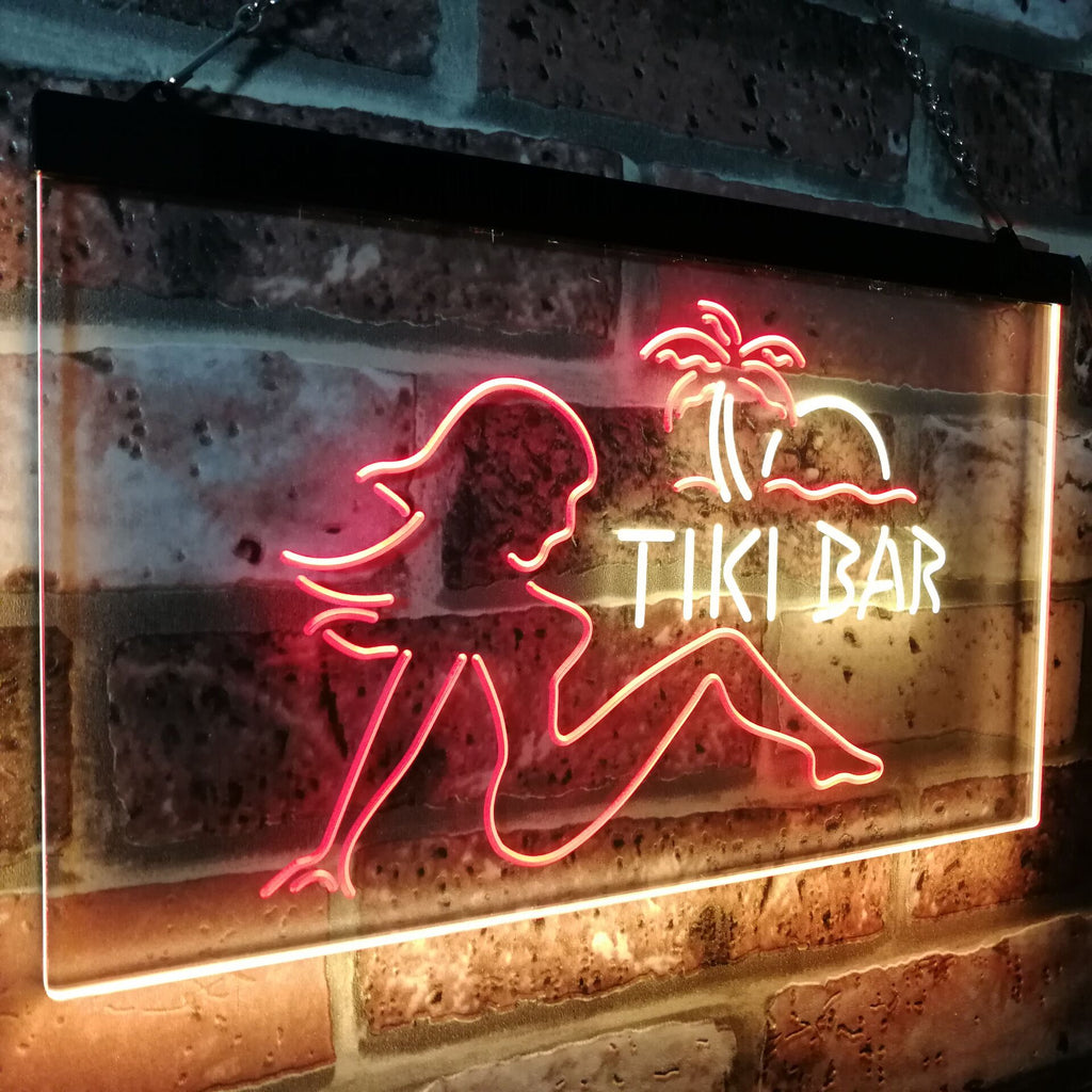 Tiki Bar Girl Two Colors LED Home Bar Sign (Three Sizes) LED Signs - The Beer Lodge