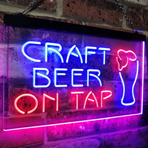 Craft Bar On Tap Two Colors LED Home Bar Sign (Three Sizes) LED Signs - The Beer Lodge