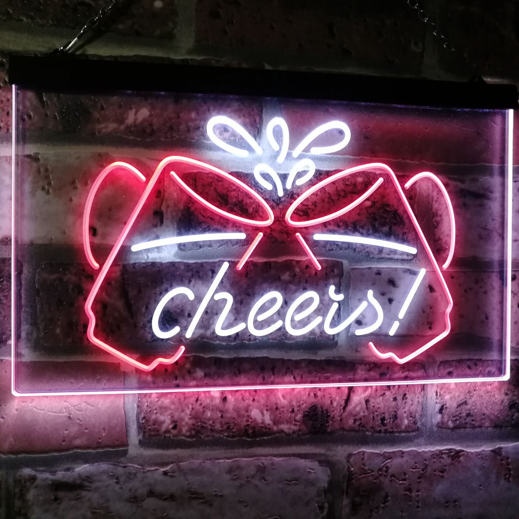 Cheers Beer Mugs Two Colors LED Home Bar Sign (Three Sizes) LED Signs - The Beer Lodge