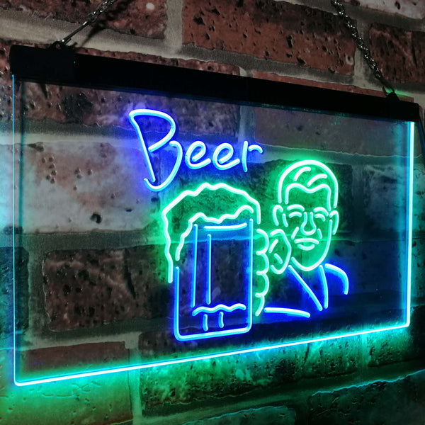 Beer Guy Two Colors LED Home Bar Sign (Three Sizes) LED Signs - The Beer Lodge