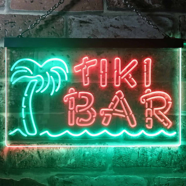 Tiki Bar Palm Tree Two Colors LED Home Bar Sign (Three Sizes)
