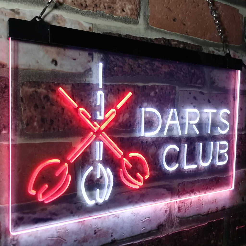 Darts Club Two Colors LED Home Bar Sign (Three Sizes) LED Signs - The Beer Lodge