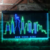 New York Skyline Two Colors LED Home Bar Sign (Three Sizes) LED Signs - The Beer Lodge