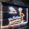 It's 5pm Somewhere Cool Bird Two Colors LED  Home Bar Sign (Three Sizes) LED Signs - The Beer Lodge