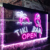 Tiki Bar Open Two Colors LED  Home Bar Sign (Three Sizes) LED Signs - The Beer Lodge