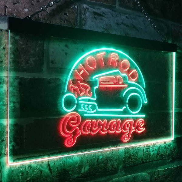 Hot Rod Garage Two Colors LED Home Bar Sign (Three Sizes) LED Signs - The Beer Lodge