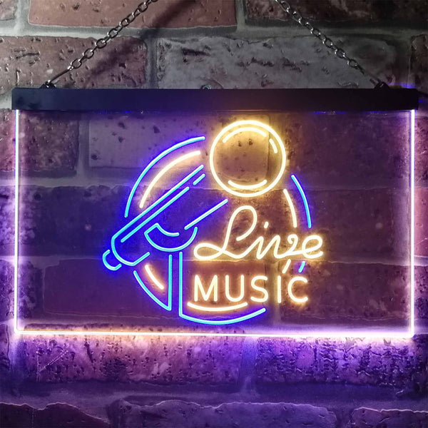 Live Music Two Colors LED Home Bar Sign (Three Sizes) LED Signs - The Beer Lodge