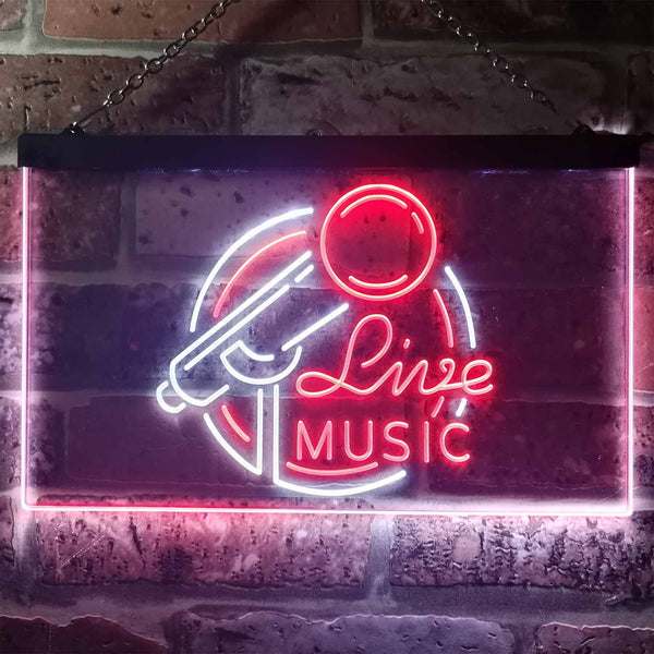 Live Music Two Colors LED Home Bar Sign (Three Sizes)