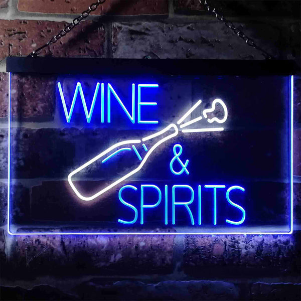 Wine & Spirits Two Colors LED  Home Bar Sign (Three Sizes) LED Signs - The Beer Lodge